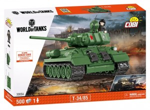 3005 Cobi World Of Tanks - T34-85 500 el.